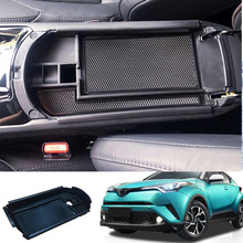 for Toyota C-HR 2016 2017 2018 2019 Interior Armrest Storage Box Central Console Glove Tray Holder Case Car-styling Accessories