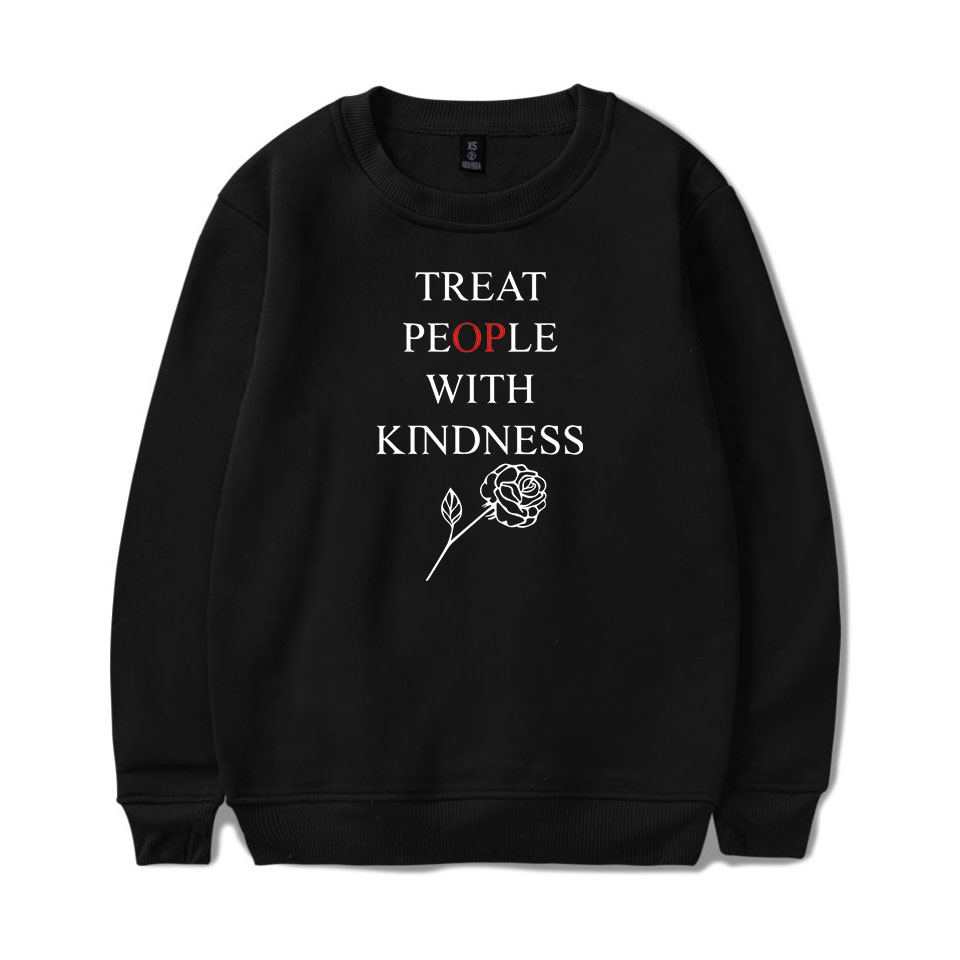 Frdun Tommy Harry Styles Kpop Treat People With Kindness Hoodies Sweatshirts Women Print Harajuku Pullover Winter Warm Clothes
