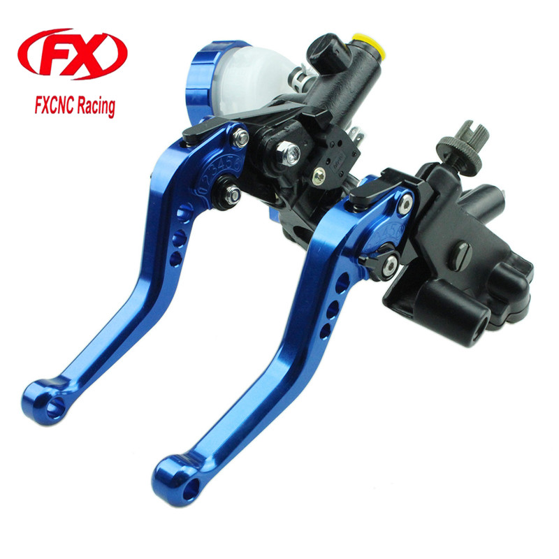 FXCNC 125-600cc Motorcycle Brake Clutch Levers Master Cylinder Hydraulic Pump Reservoir For KTM 200 Duke RC200 RC125 2014 - 2015 for ktm rc390 rc200 rc125 125 duke high quality motorcycle cnc foldable extending brake clutch levers folding extendable lever