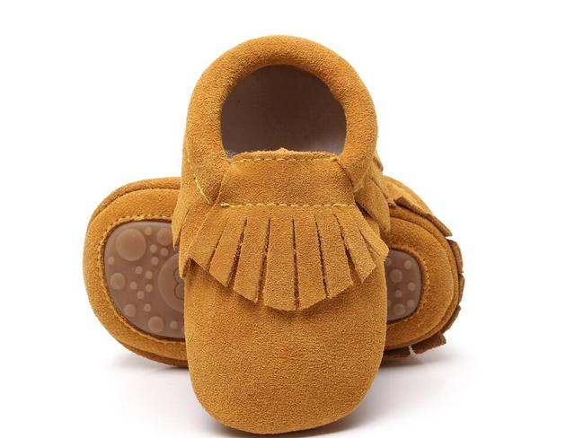 Bulk 300 pairs/lot Hot sale real suede leather soft touch infant walking Baby moccasins booties boots Rubber sole baby shoes