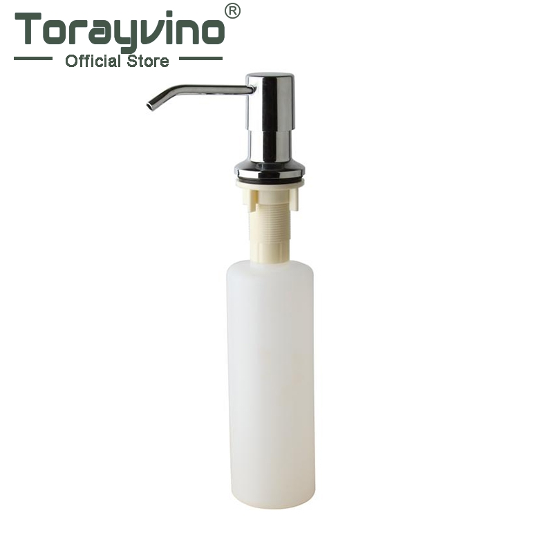 Torayvino Kitchen Sink Deck Mounted Soap Dispenser Plastic Chrome Finished Painting Soap Dispenser 5155S