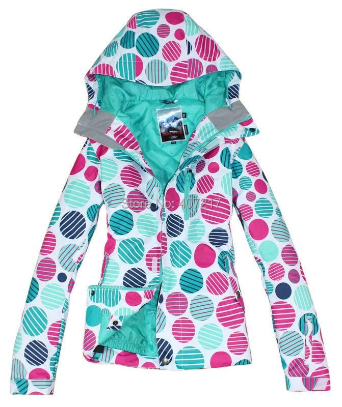 2017 womens polka dots ski jacket snowboard jackets ladies colorful round dots ski jacket women skiwear waterproof white color2017 womens polka dots ski jacket snowboard jackets ladies colorful round dots ski jacket women skiwear waterproof white color