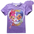 Summer 2016 Baby T Shirts for Girls Cotton Short Sleeve Cartoon Print Tops Tees Kids Cute Tops Girl T-shirt Clothing for 3-8yrs