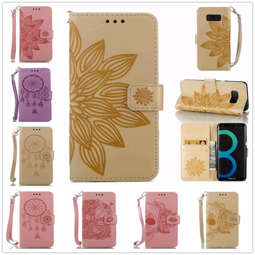 Leather Flip Phone Case For Samsung Galaxy S8 Plus S7 Edge S6 Edge Plus S3 Mini i8190 S4 Mini 9190 S5 Mini Wallet Card Phone Bag