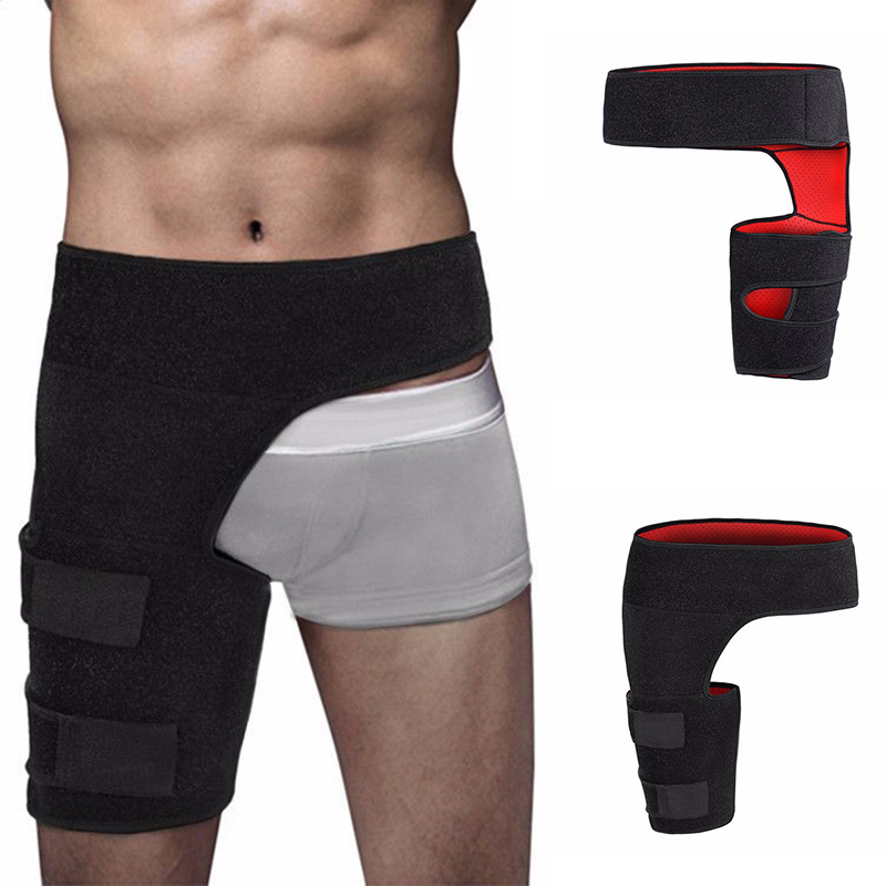 New Groin Support Wrap Hip Joint Support Waist Groin Sacrum Pain Relief Strain Arthritis Protector Hip Thigh Brace(Left/right )