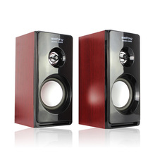K-MIC M030 PC Computer Speakers USB Portable Wooden Speaker 2.0 Mobile Phone Multimedia Audio Subwoofer Loudspeaker Sound Box