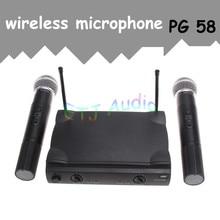 Etj marca genuino weisre pgx58 micrófono omni-direccional inalámbrica sistema dual de mano 2 x micrófono inalámbrico receptor