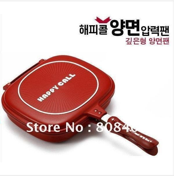 Hot saling! 10pcs/lot Happycall,Happy Call, Double Pan,Fry pan, Non-stick pan,Double Side Grill Fry Pan,Free Shipping