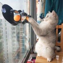 Игрушка для кошек, мяч, окно, настольный теннис, адсорбция, стекло, игрушка для кошек, пластиковая присоска, забавный кот, обучающая игрушка для кошек, Интерактивная игрушка
