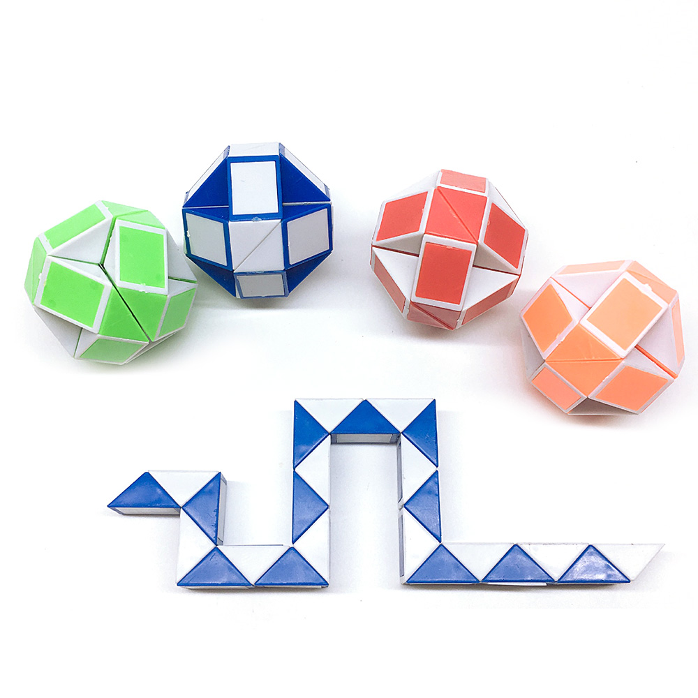 Lovely Cool 24 Segments Of The Magic Snake Variety Popular Kids Game Transformable Gift Puzzle Magic Cubes