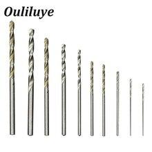 цена на Free Delivery 0.8mm-3mm Straight Shank Twist Drill Power Tool Metal Drills Woodworking Tools Drill Bit Set Aluminum HSS Drill