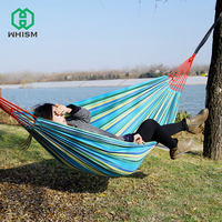 WHISM 2 Person Outdoor Parachute Hammock Camping Hanging Sleeping Bed Swing Portable Travel Canvas Double Chair Garden Hamac