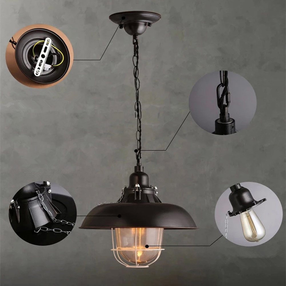 Edison Loft Style Metal Lid Droplight Retro Industrial Pot Pendant Light Fixtures For Dining Room Hanging Lamp Lustres De Sala retro industrial style pot lid shape lustres loft heavy pendant lamp antique cord pendant light for bar bedroom study