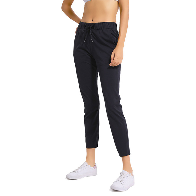NWT Women Workout Running Leggings 4 Way Stretch Fabric Super Quality Yoga Pants with Side Pockets Outdoor Sports Tights 1