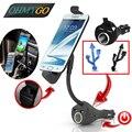 Telefone Do Carro Universal Montar Titular Carregador de Isqueiro para Samsung Lenovo Smartphones Com Carregador USB Dupla