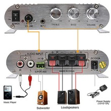 New 200W Car Amplifier LP-838 12V Smart Mini Hi-Fi Stereo Audio Amplifier for