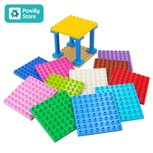 цена на Building Blocks Compatible with Duplo Kids DIY Toys ABS Plastic Building Toys Blocks Bricks Parts 8x8 Educational Learning