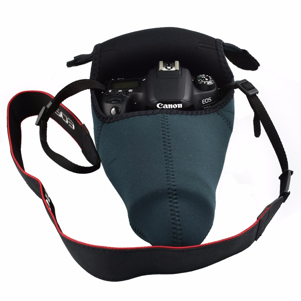 Small/Medium/Large Size Neoprene Waterproof Camera Soft Bag Case Cover Protector for Cannon Nikon Sony Pentax Fujifilm Cameras