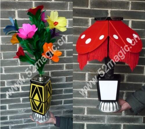 Instant Flower Vase To Night Lamp - Magic Trick,Close Up Magic,Mentalism,Stage Magic Props,Comedy,Gimmick,Illusions,Party Show risk staple gun trick stage magic close up illusions accessory gimmick mentalism