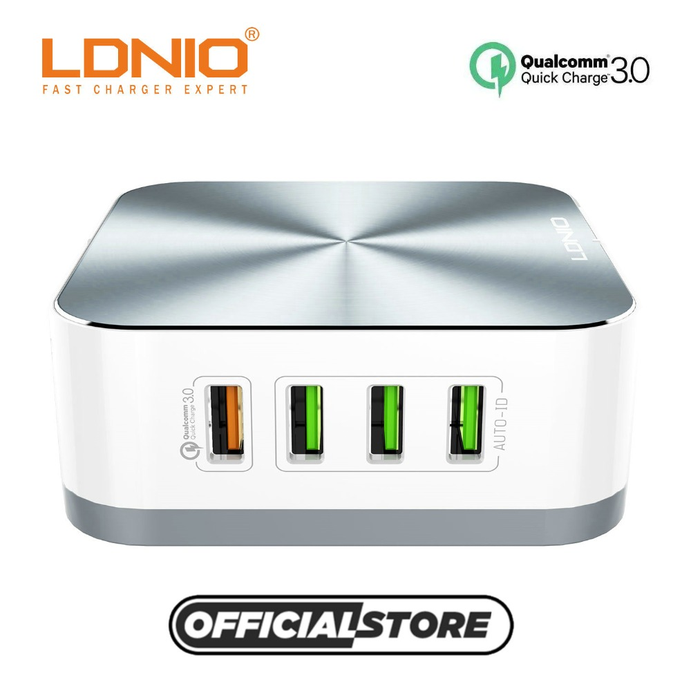 LDNIO A8101 8 USB Port Quick Charge 3.0 Type Mobile Phone Home Desktop Charger For iPhone/Xiaomi/Huawei/Samsung Cell Phone A8101 reflection