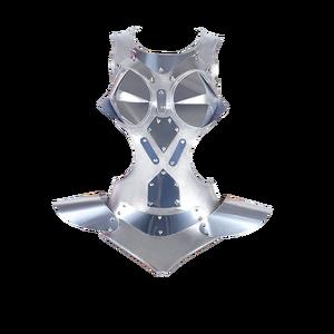 Image 1 - Moda dança traje de prata bodysuit feminino dj ds macacão para cantores executando wear pole dance gogo dancer outfits