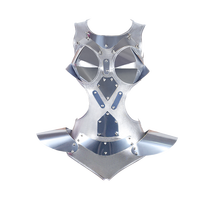 Moda kostium taneczny srebrny body kobiety DJ DS kombinezon dla piosenkarki wykonywania nosić taniec na rurze Gogo tancerz stroje