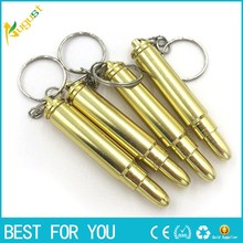 100pcs/lot MINI Funky Bullet Metal Pipe Smoking Pipe Weed Pipe Keychain Gold Color Promotion Gift for men