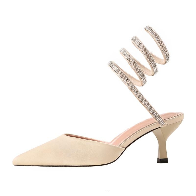 Cm Femmes Black Sandales Argent Strass red 6 Mi Mariage Stiletto Talons D'été silver Chaussures gold De Genshuo Sexy qPg6Fqd