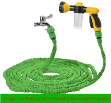 Upgraded Expandable 50ft Retractable Garden Hose Reels Water Pressure Gun Foam Car Washer Car Cleaning Gun 8 Modes Nozzle Gun