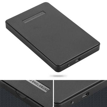 Slim Portable USB 2.0 Hard Drive External Enclosure 2.5 inch SATA HDD Mobile Disk Box Cases with USB Cable Drop Shipping