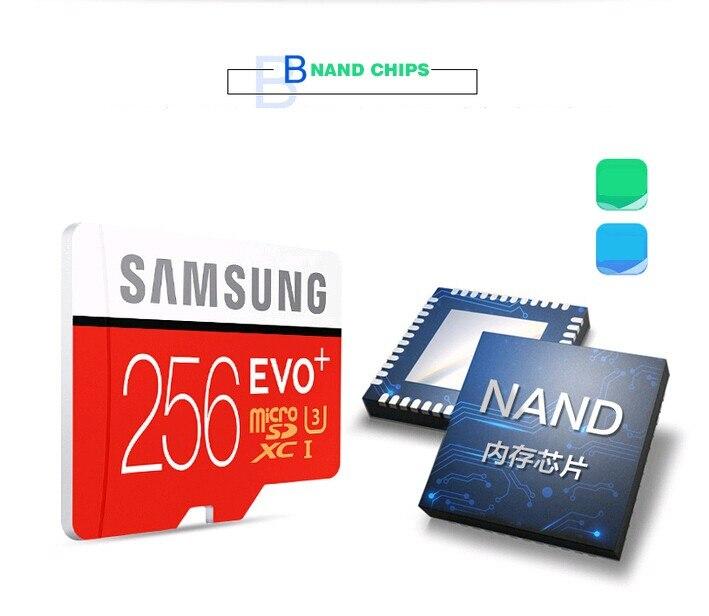 SAMSUNG EVO Plus Class10 carte mémoire micro sd 256GB 95 mo/s étanche TF Memoria carte Sim Trans Mikro carte pour téléphone intelligent 256 go - 6