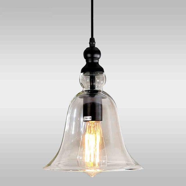 Modern bell shape glass bell pendant light glass material hanging modern bell shape glass bell pendant light glass material hanging lamp edison vintage lamp decor for aloadofball Gallery