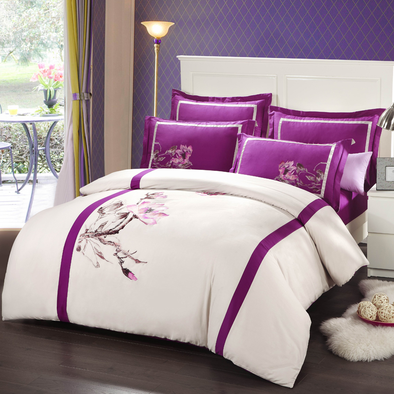 Chinese Style Oriental Embroidered Bedding Set Queen King ...