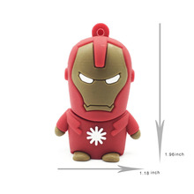 USB Key USB Flash Drive Superhero Pendrive IRON MAN USB Flash Drive 128GB 64GB 32GB 16GB 8GB 4GB Pen Drive Memory Stick Gift PC