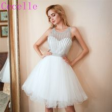956d17202117a 2019 Yeni Beyaz Kısa Mezuniyet Elbiseleri Sparkly Üst Tül Etek Gençler  gayri Kısa Kokteyl Homecoming Elbise