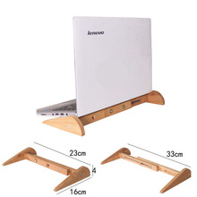 Vmonv Increased Height Cooling Bamboo Laptop PC Stand for Macbook Air Pro Retina Vertical
