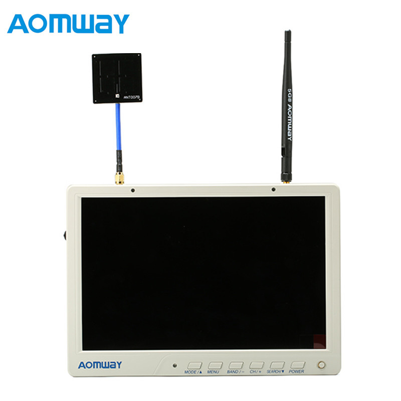 New Arrival Aomway HD588 10 Inch 5.8G 40CH Diversity FPV HD Monitor 1920 x1200 with DVR Build in Battery For FPV Multicopter весы jkw 40 x 10 g dps1