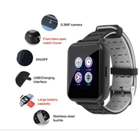 Smart Watches Android Watch Push Message Bluetooth Connectivity Ip68 Waterproof Men and Women Clock Camera Photo For IOS Android