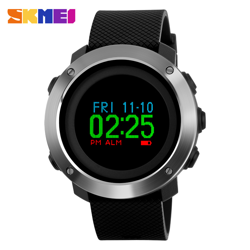 Top Luxury Brand SKMEI Sports Watches Men OLED Display Wristwatches Pedometer Calorie Compass Waterproof Digital Watch Relojes top luxury brand skmei sports watches men oled display wristwatches pedometer calorie compass waterproof digital watch relojes