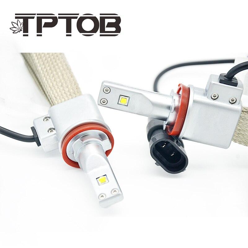 TPTOB ZES Phare De Voiture Ampoules H4 LED 9003 HB2 H4 H11 H8 9005 HB3 9006 HB4 H7 LED Super Tache Lumineuse Auto lampe Frontale Blanc