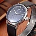 2017 novo pagani design homens relógios marca de luxo qualidade caixa de aço de couro genuíno cavalheiro estilo relógio de pulso de quartzo relógio dos homens