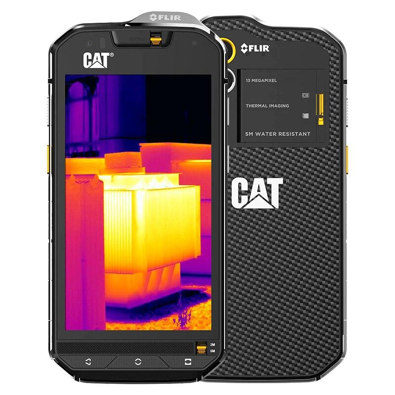 D'origine S60 FLIR Thermique infrarouge Caméra 13.0mp Octa Core Android 6.0 ip68 Téléphone Étanche Robuste 4g LTE GPS 3 gb RAM CHAT