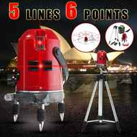 ZEAST 5 Lines 6 Points 360 Rotary Laser Level Line Self Leveling Vertical Horizontal Measure+Tripod Kit Drop Ship
