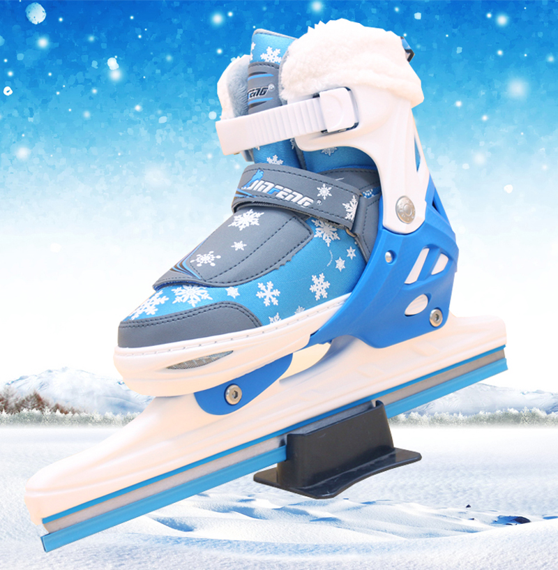 1 Pair Adult Women Children Racing Speed  Ice Skates Shoes Adjustable Ice Blade Thermal Adjustable Professional Thicken Patines professional 7005 series aluminum tube short track ice blade 16in 64hrc high quality ice skate shoes knife 1 1mm thickness frame