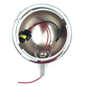 """Image 2 - 4 1/2 """"4.5 cala światło pomocnicze LED Spot mgła światło mijania lampa z obudową pierścień góra uchwyt do harleya Touring Electra Glide"""