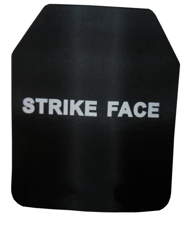 2pcs NIJ IIIA Steel Alloy Bulletproof Vest Ballistic Plate With NIJ Standard Level