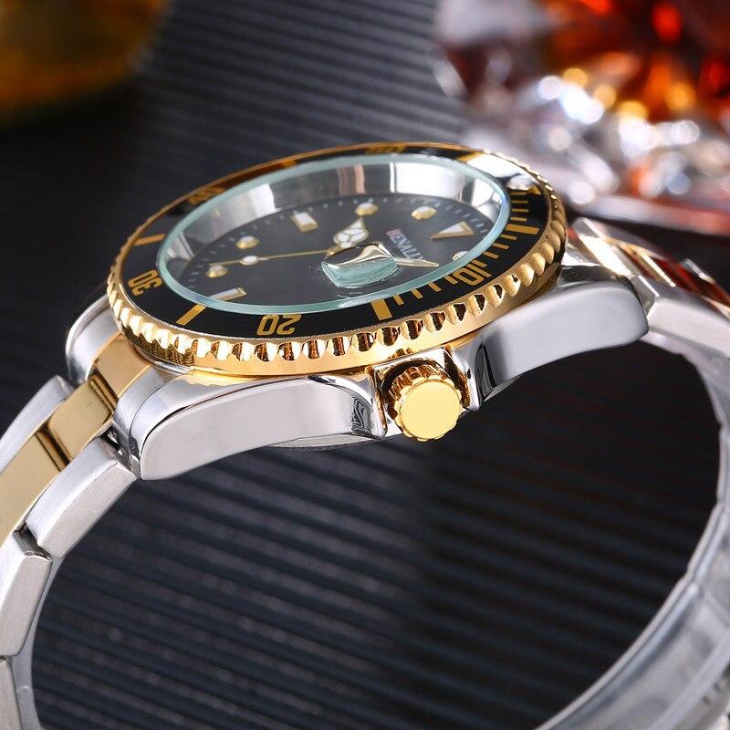WLISTH Men 39 s luxury brand sport men 39 s watch steel quartz waterproof watch military gold watch mens watches top brand luxury in Quartz Watches from Watches