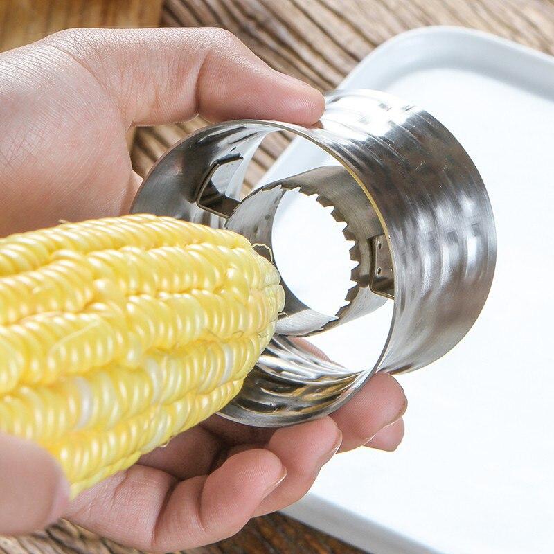 Kitchen Gadgets Corn Stripper Stainless Steel Corn Cob Peeler Slicer Circular Corn Cutter Scraper Vegetable Tools Peeler Corer  (4)