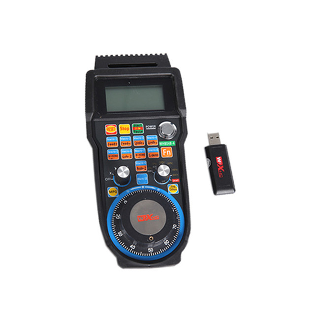 US $124 7 |Wireless USB MPG Pendant Handwheel Controller For CNC Mach 4 6  axis cnc machine-in Woodworking Machinery Parts from Tools on  Aliexpress com