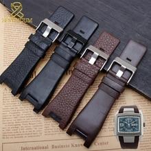 ac1bcfbeeb6 Genuine leather bracelet 32mm watchband for diesel watch strap wristwatches  band for DZ1216 DZ1273 DZ4246 DZ4247DZ287